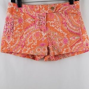 J. Crew Floral Chino Shorts Size 2 EUC